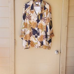 Womens Alfred Dunner Tropical Floral Blouse